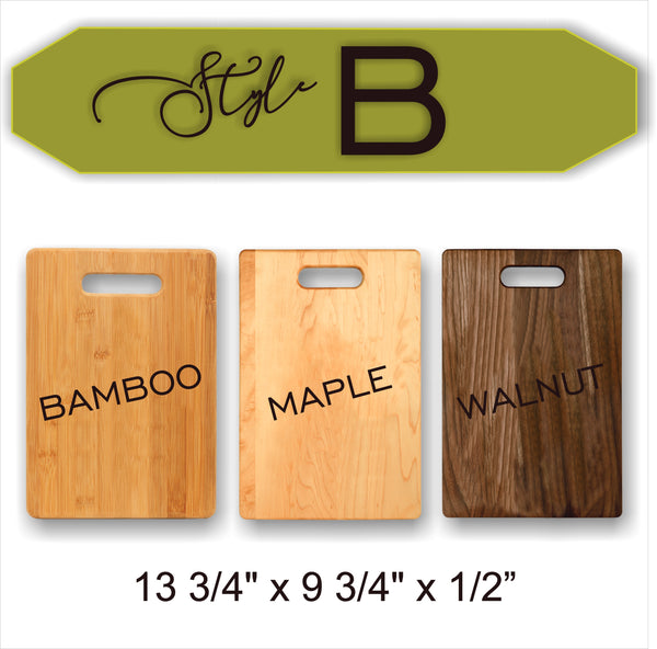 Doe And Buck - True Love - Wood Cutting Board - Laser Light Industries