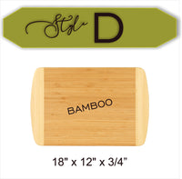 Custom Couple's Name In Wreath - Wood Cutting Board - Laser Light Industries
