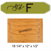 Custom Couple's Name With Heart Brackets - Wood Cutting Board - Laser Light Industries