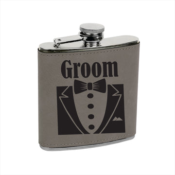 Vegan Leather Flask:  GROOM