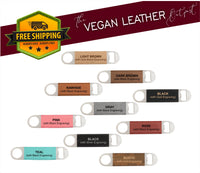 Custom Logo Or Artwork - Vegan Leather Bottle Opener - Laser Light Industries