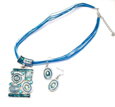 Spanish Flair Necklace and Earring Set # 17