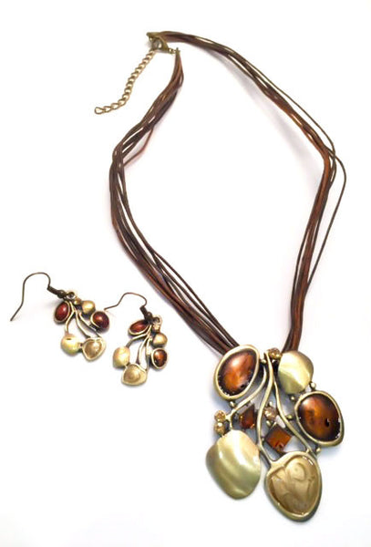 Spanish Flair Necklace and Earring Set # 24