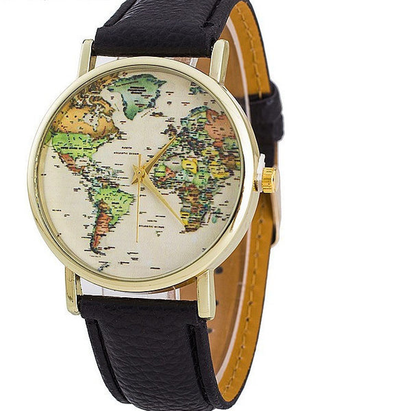 It's Time To Travel World Map Watch