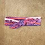 Pink Hmong Baby Headband with Pom Pom Fringe