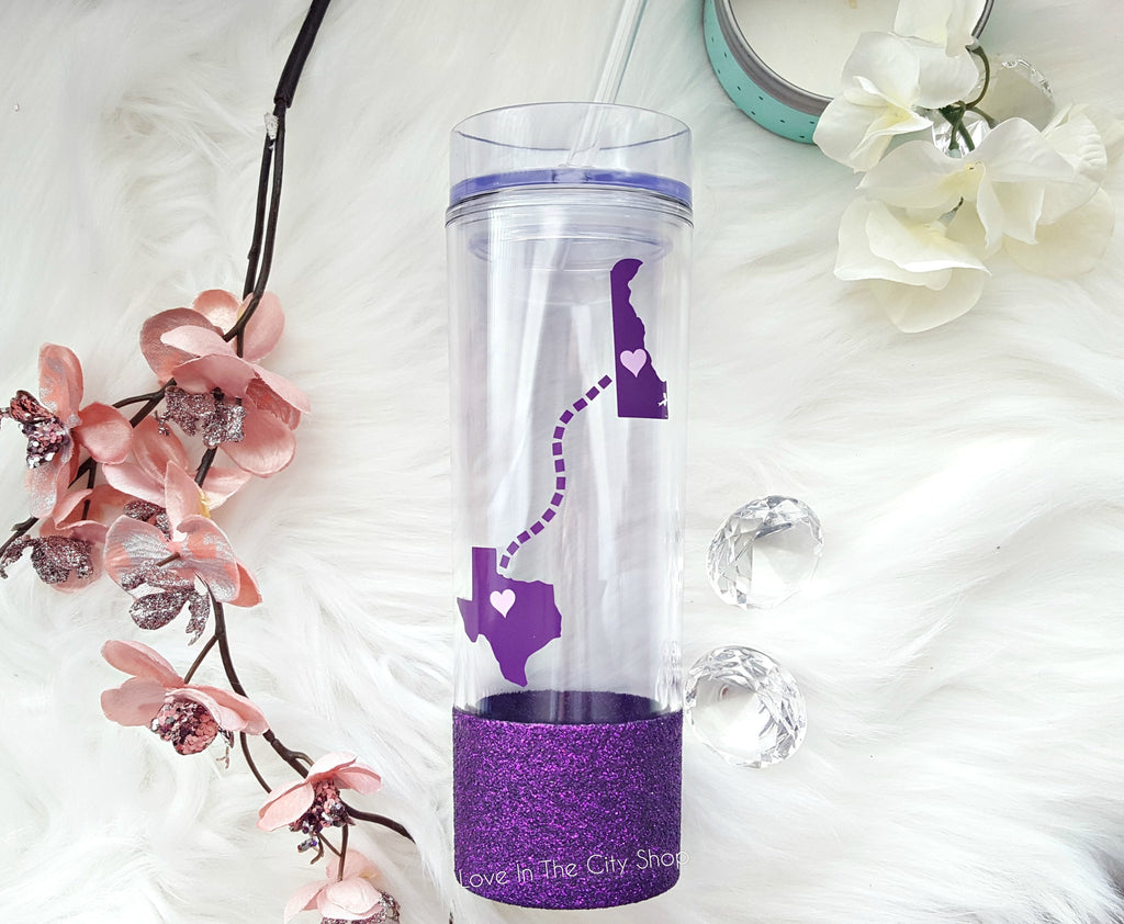 Long Distance Friendship Water Bottle - love-in-the-city-shop