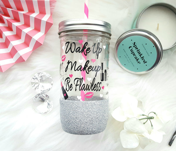 Makeup Tumbler (Glass) - love-in-the-city-shop