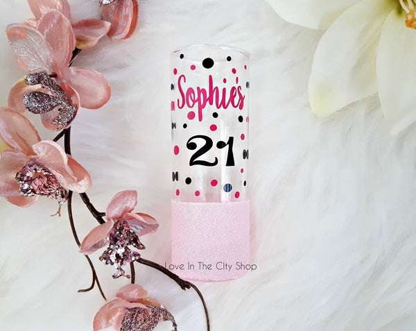 Custom Birthday Shot Glass - 21st - love-in-the-city-shop