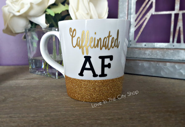 Caffeinated AF Coffee Mug - love-in-the-city-shop