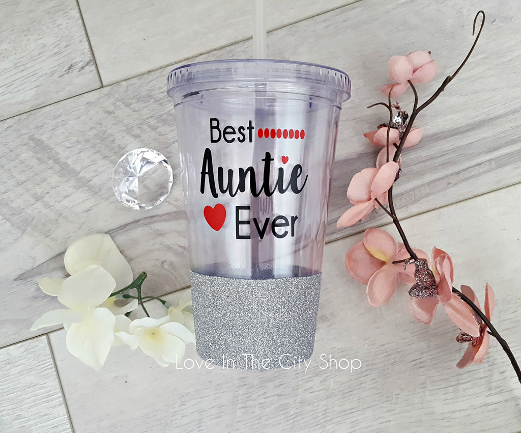 Best Auntie Ever Tumbler (Acrylic) - love-in-the-city-shop