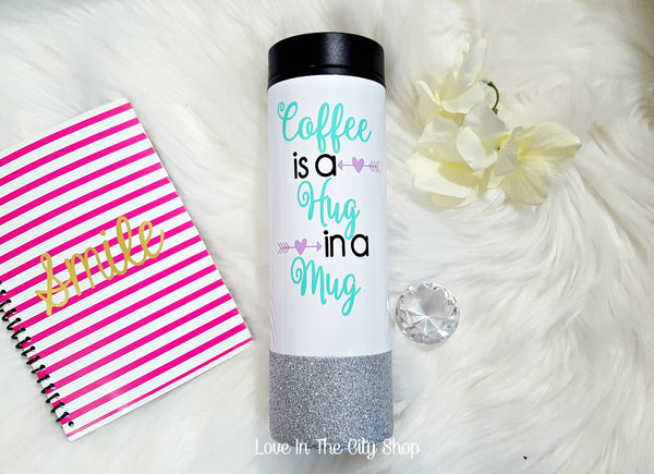Coffee is a Hug in a Mug (Travel Tumbler) - love-in-the-city-shop