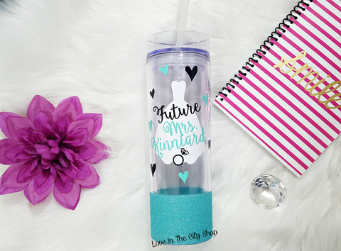 Custom Bride Water Bottle (Future Mrs) - love-in-the-city-shop