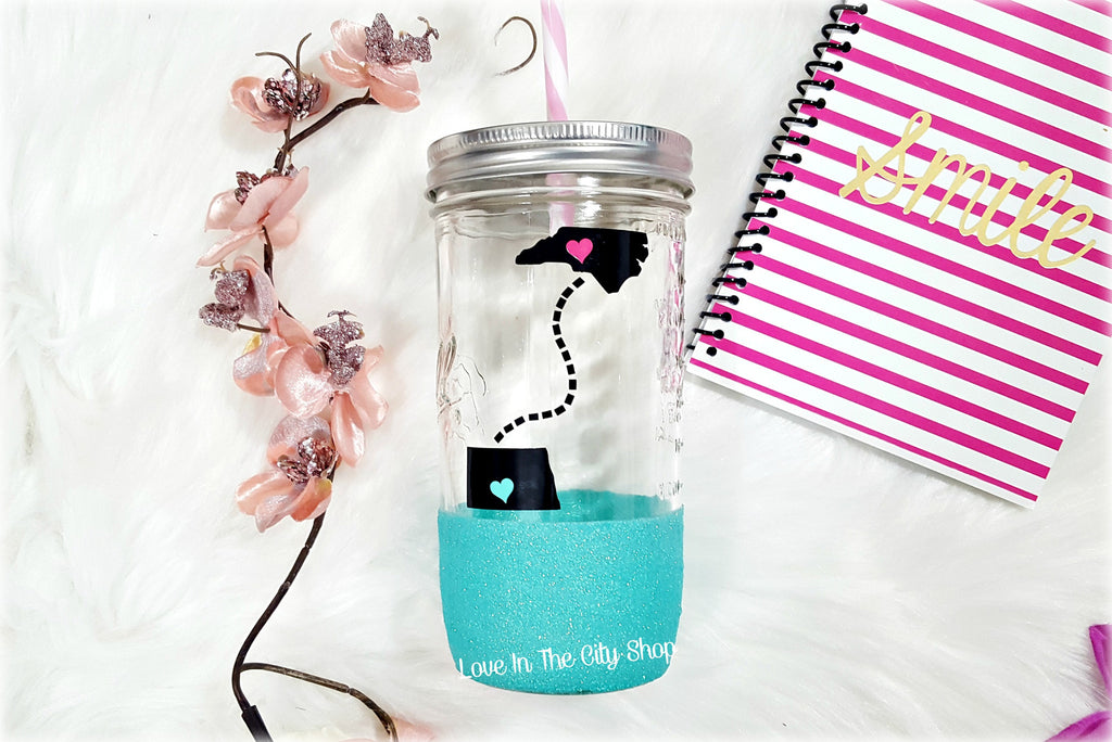 Long Distance States Tumbler (Glass) - love-in-the-city-shop