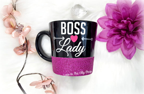 Boss Lady Black Coffee Mug - love-in-the-city-shop