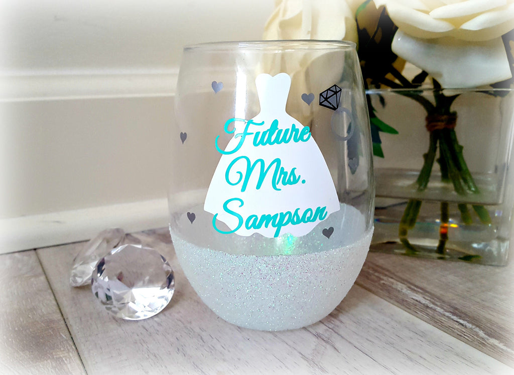 Bride Stemless Wine Glass - love-in-the-city-shop