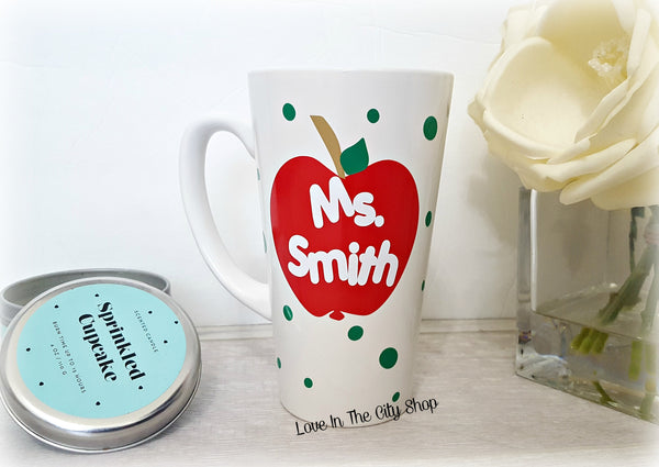 Custom Teacher Mug (Latte) - love-in-the-city-shop