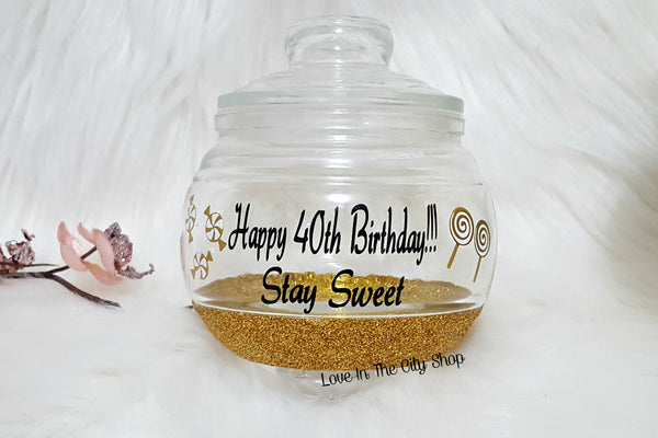 40th Birthday Candy Jar - love-in-the-city-shop