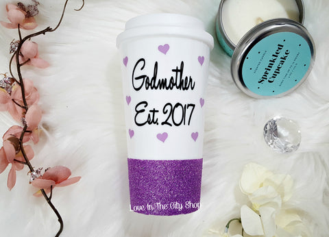 Godmother Travel Mug (Est) - love-in-the-city-shop