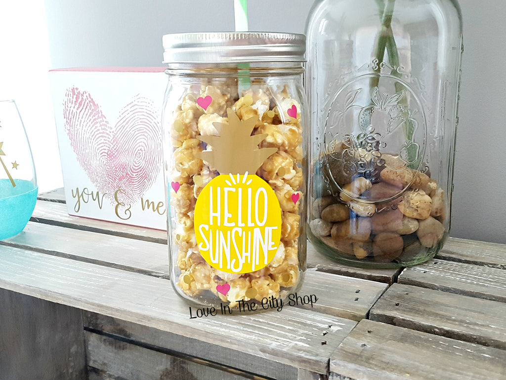 Hello Sunshine Tumbler (Glass Tumbler) - love-in-the-city-shop