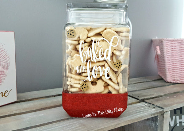 Baked with Love Cookie Jar - love-in-the-city-shop