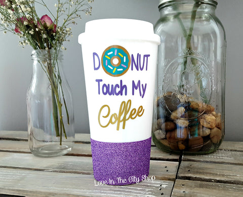 Donut Worry Be Happy Travel Mug - love-in-the-city-shop