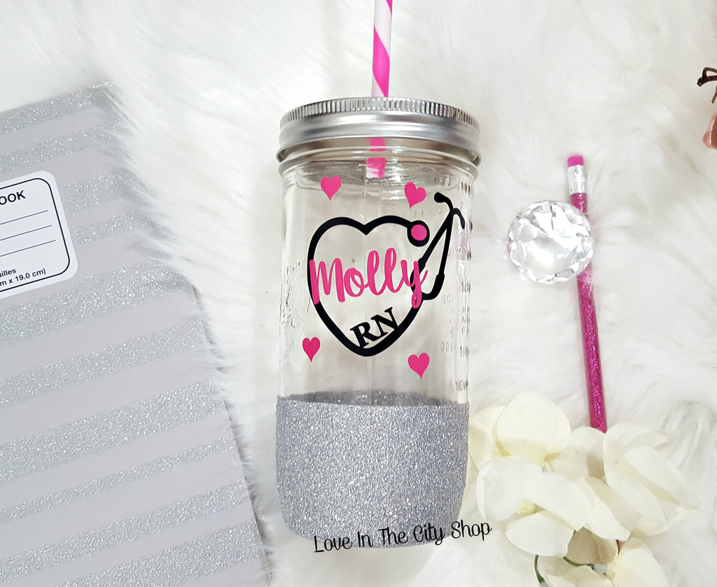 Nurse Tumbler (Glass) - love-in-the-city-shop
