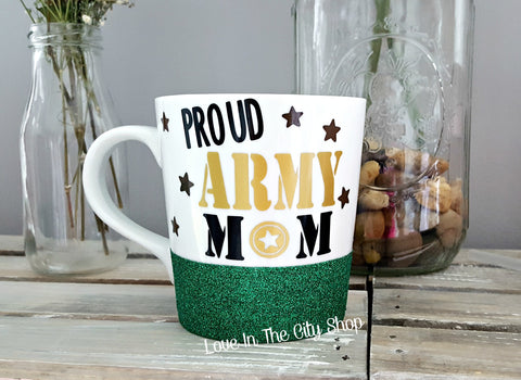 Army Mom Coffee Mug - love-in-the-city-shop