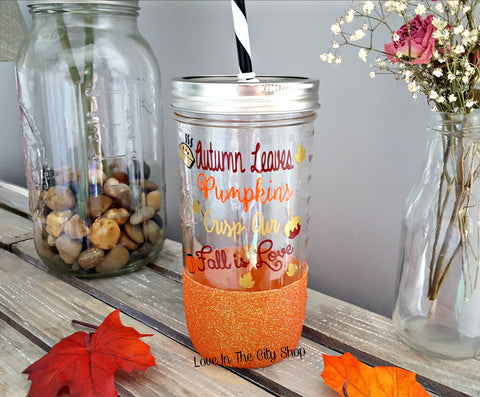 Fall Tumbler (Glass Tumbler) - love-in-the-city-shop