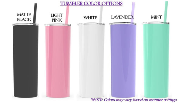 Bridal Party Tumblers - Metal Tumbler - love-in-the-city-shop