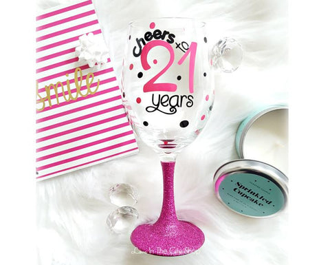 21st Birthday Wine Glass - love-in-the-city-shop