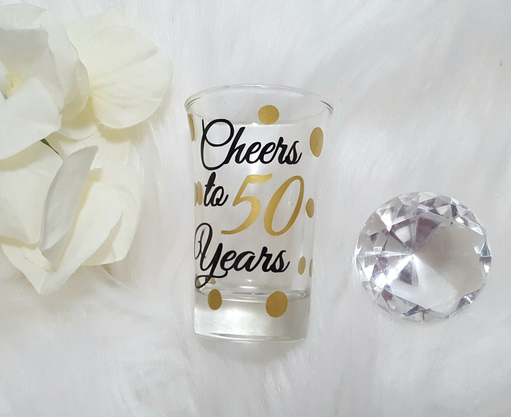 50th Birthday Shot Glass - love-in-the-city-shop
