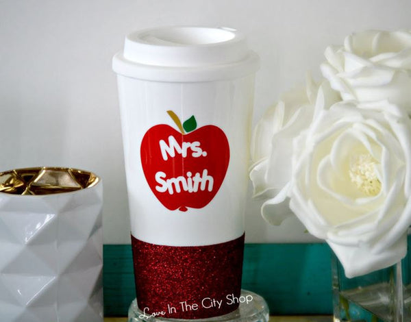 Custom Teacher Travel Mug - love-in-the-city-shop