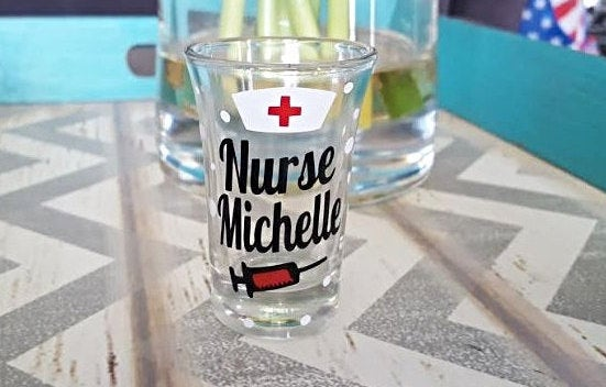 Custom Nurse Shot Glass - love-in-the-city-shop