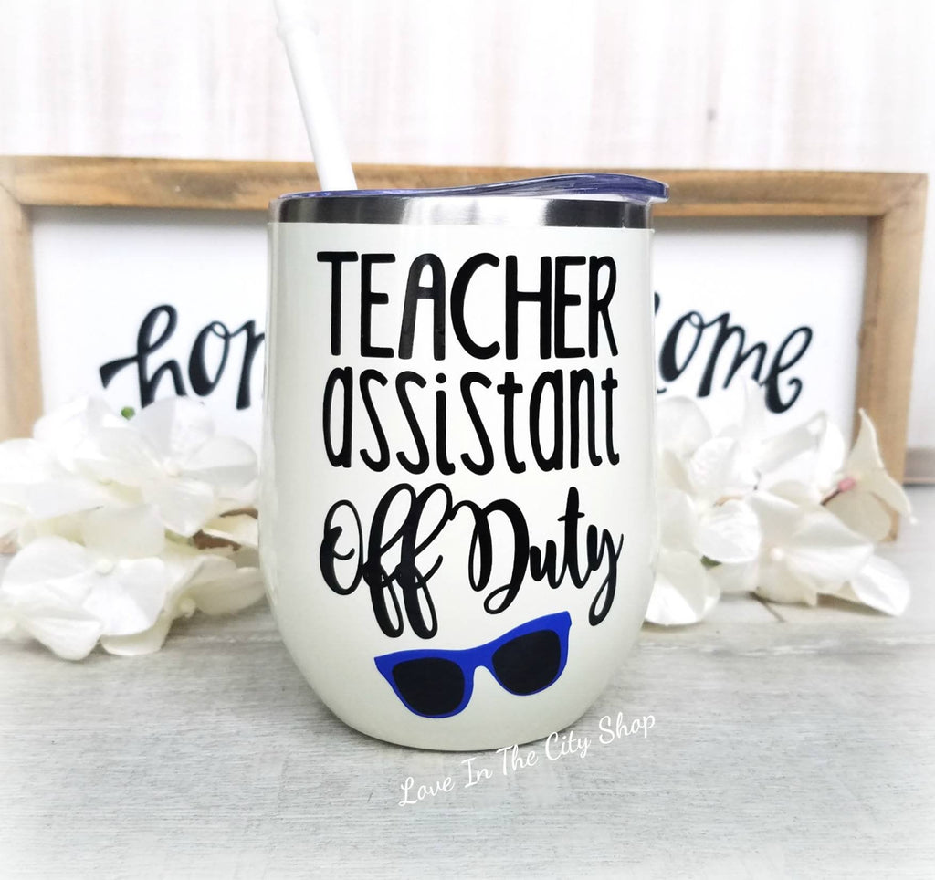 Teacher Assistant Wine Tumbler - love-in-the-city-shop