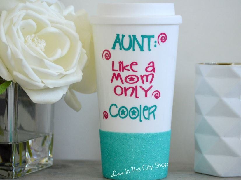 Aunt Like A Mom Only Cooler Travel Mug - love-in-the-city-shop