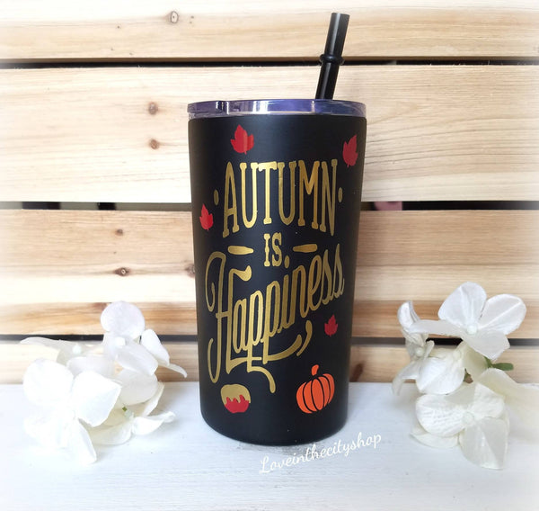 Autumn Metal Tumbler (Mini Tumbler) - love-in-the-city-shop