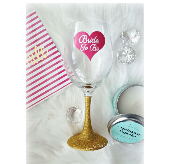 Bride to Be Wine Glass - love-in-the-city-shop