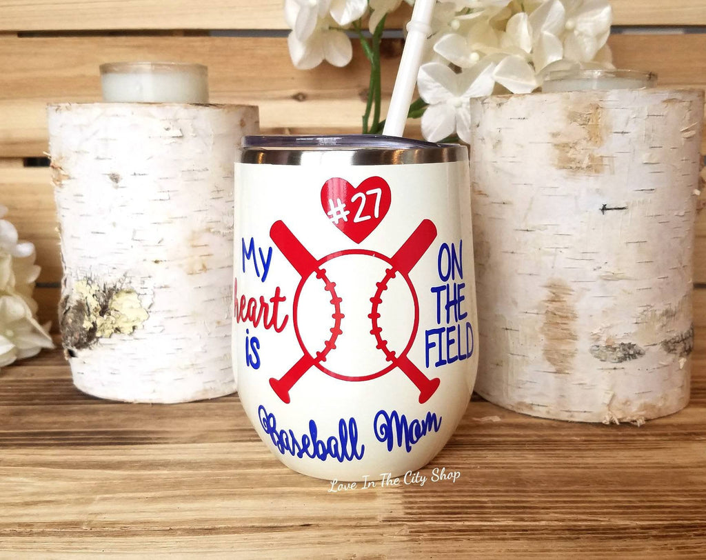 Baseball Wine Tumbler - love-in-the-city-shop