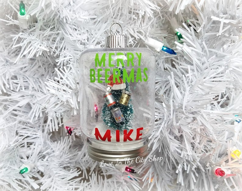 Beer Snow Globe Ornament - love-in-the-city-shop