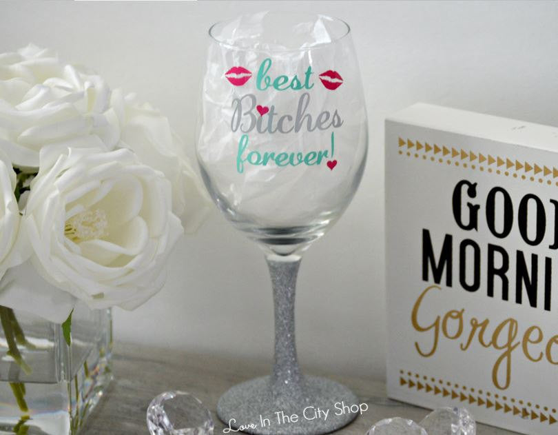 Best Friends Wine Glass - love-in-the-city-shop