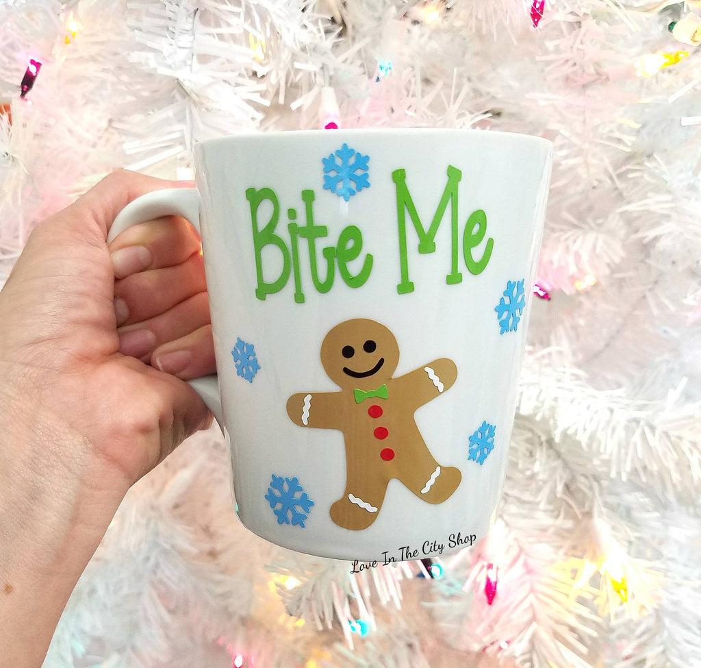 Gingerbread Bite Me Coffee Mug - love-in-the-city-shop
