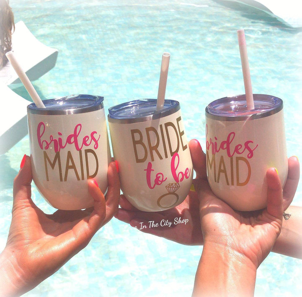 Wedding Party Wine Tumbler - love-in-the-city-shop