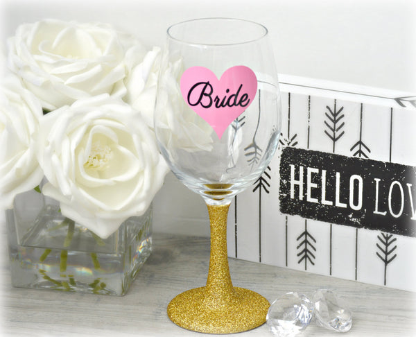 Bride Wine Glass - love-in-the-city-shop