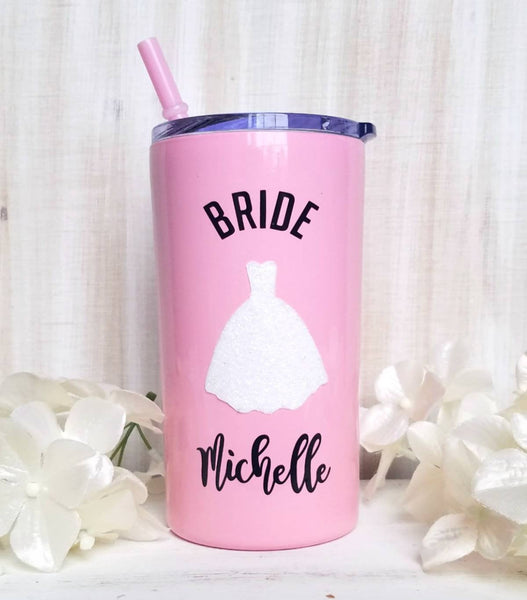 Bridal Metal Tumbler (Mini Tumbler) - love-in-the-city-shop