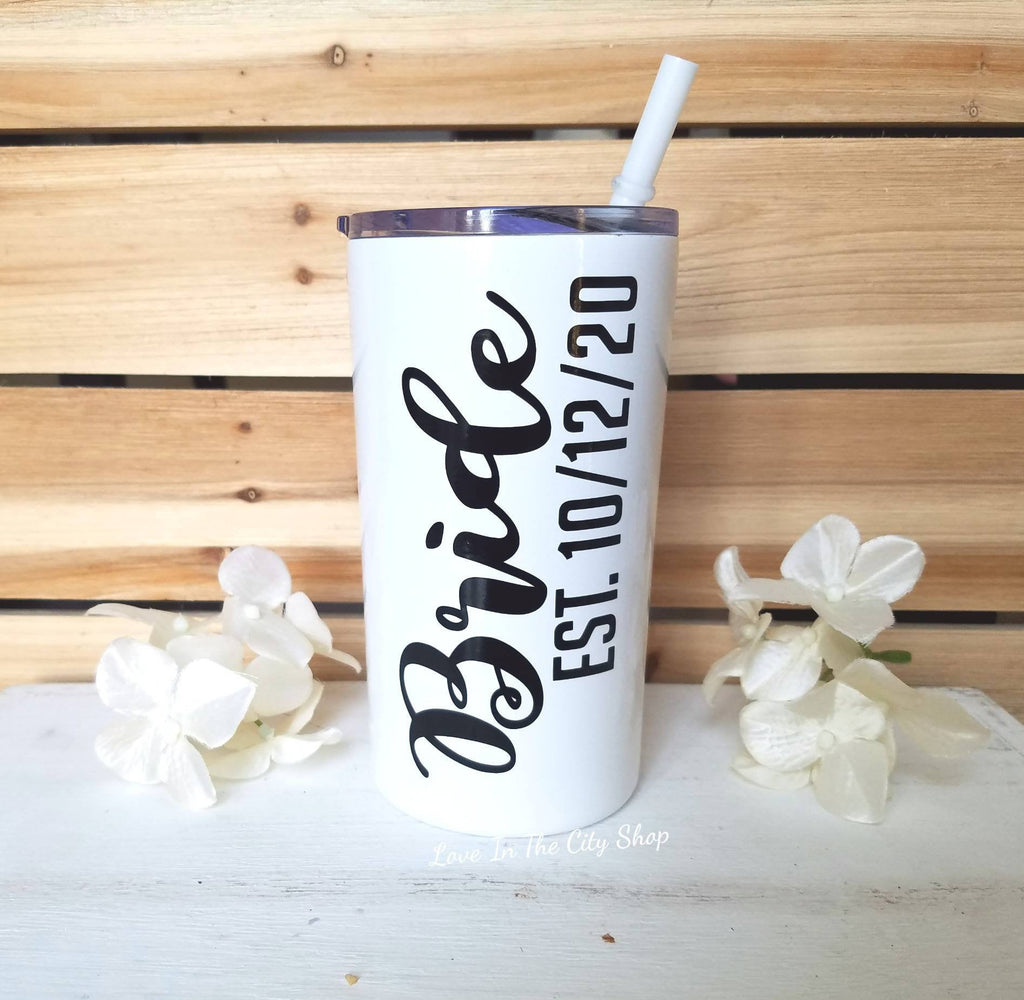 Bride Metal Tumbler (Mini Tumbler) - love-in-the-city-shop