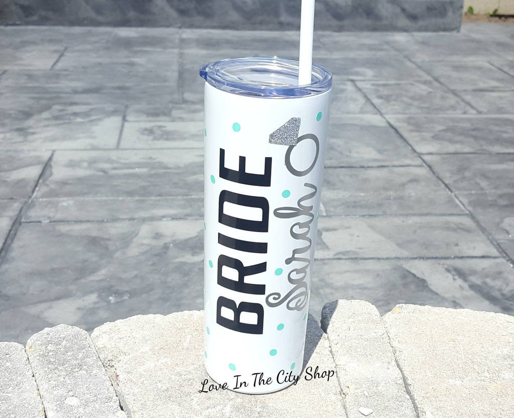 Bride To Be Metal Tumbler - love-in-the-city-shop
