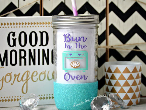 Bun in the Oven Tumbler (Glass) - love-in-the-city-shop