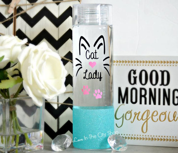 Cat Lady Water Bottle - love-in-the-city-shop