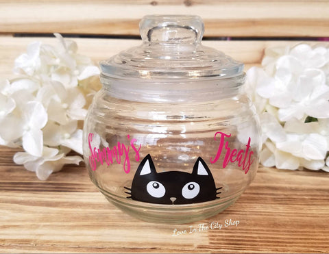Cat Treat Jar - love-in-the-city-shop