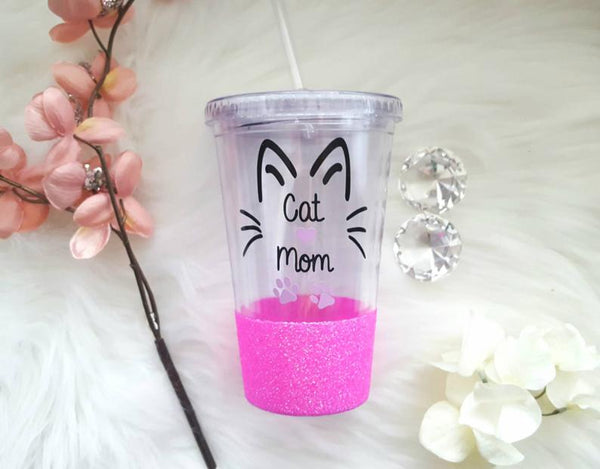 Cat Mom Tumbler (Acrylic) - love-in-the-city-shop